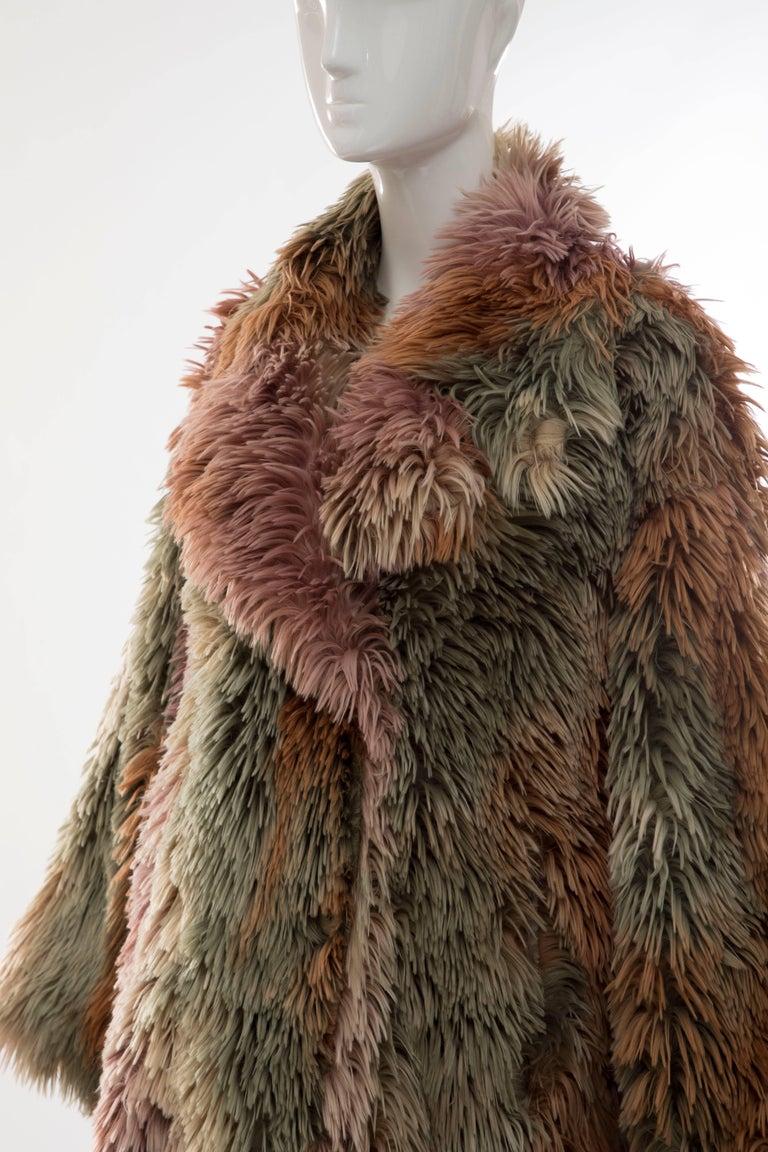 MM6 Maison Margiela Faux Fur Double Breasted Coat For Sale 4