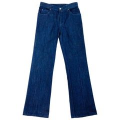 MM6 Maison Margiela Paris Dark Blue Denim Pants Size 40