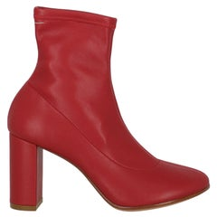 Mm6 Maison Margiela  Women   Ankle boots  Red Leather EU 38