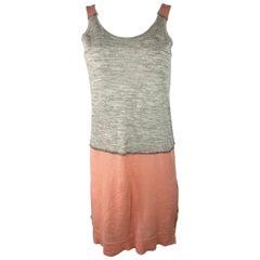 MM6 Maison Martin Margiela Grey and Pink Mini Dress, Size XS