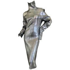 MM6 Maison Martin Margiela Knit Dress with Silver Finish