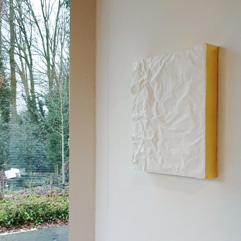 Creased no. 15 - contemporary modern abstract wall sculpture painting object - Painting by Mo Cornelisse