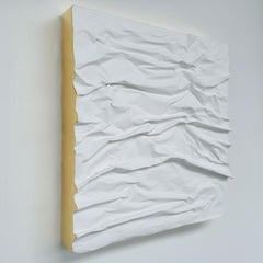 Creased no. 2 - contemporary modern abstract wall sculpture painting object