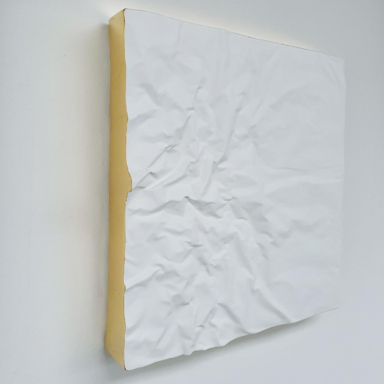 Creased no. 3 - contemporary modern abstract wall sculpture painting object