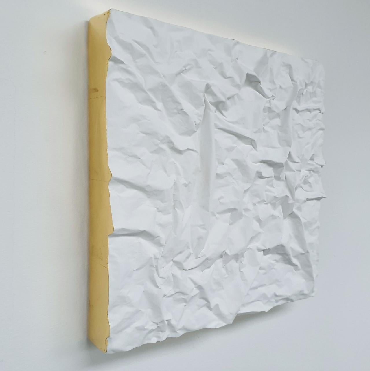 Creased no. 6 - contemporary modern abstract wall sculpture painting object