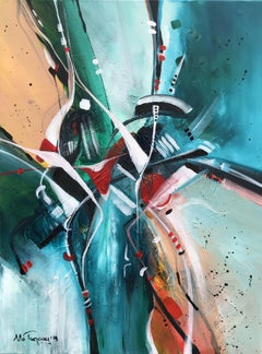 """"""" Composition 19 """", Painting, Acrylic on Canvas"""