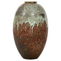 Mobach Dutch Ceramic Vase, circa 1930s by J. H. Andree