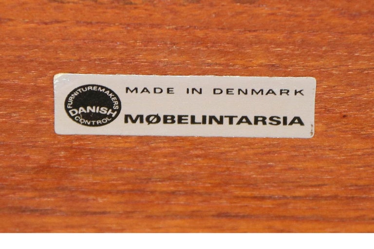 Mobelintarsia Mid Century Danish Teak Side Table 6