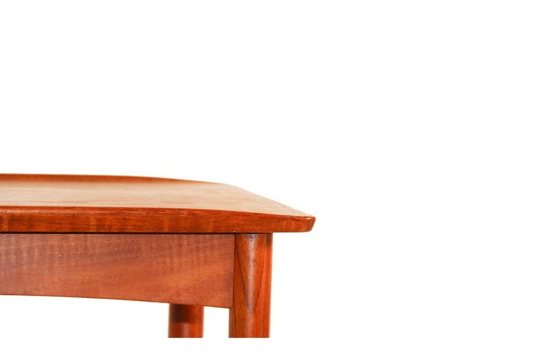 Mobelintarsia Mid Century Danish Teak Side Table In Good Condition In Baltimore, MD