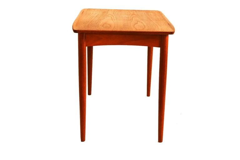 Mobelintarsia Mid Century Danish Teak Side Table 3
