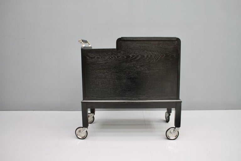 Mobile Art Deco Bar Cart, 1940s For Sale 1
