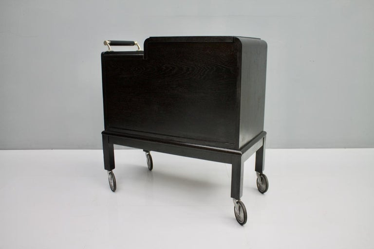 Mobile Art Deco Bar Cart, 1940s For Sale 2