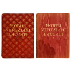 Mobili Veneziani Laccati, Venetian Lacquer Furniture, 2 Volume Set First Edition