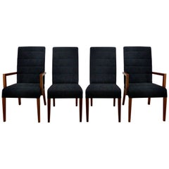 Mobilidea Suede Leather Dining Room Chairs Set of 8 by Studio Sigla Midcentury