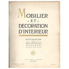 Mobilier Et Decoration D'interieur Revue Francais 'Tous Les Mois 1925' Book