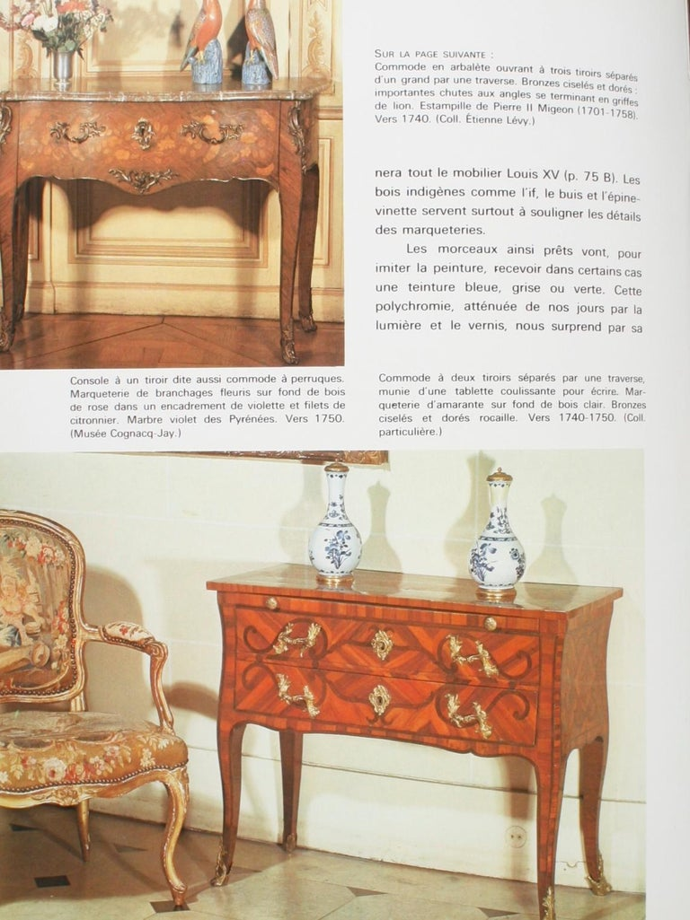 Mobilier Regence, Louis XV by Monica Burckhardt, First Edition For Sale 5