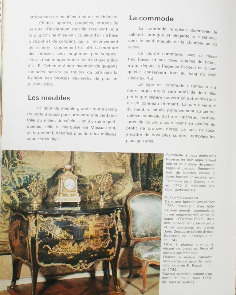 Mobilier Regence, Louis XV by Monica Burckhardt, First Edition For Sale 7