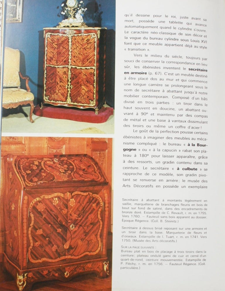 Mobilier Regence, Louis XV by Monica Burckhardt, First Edition For Sale 10