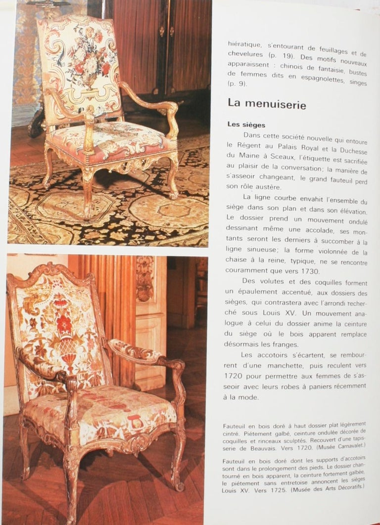 French Mobilier Regence, Louis XV by Monica Burckhardt, First Edition For Sale