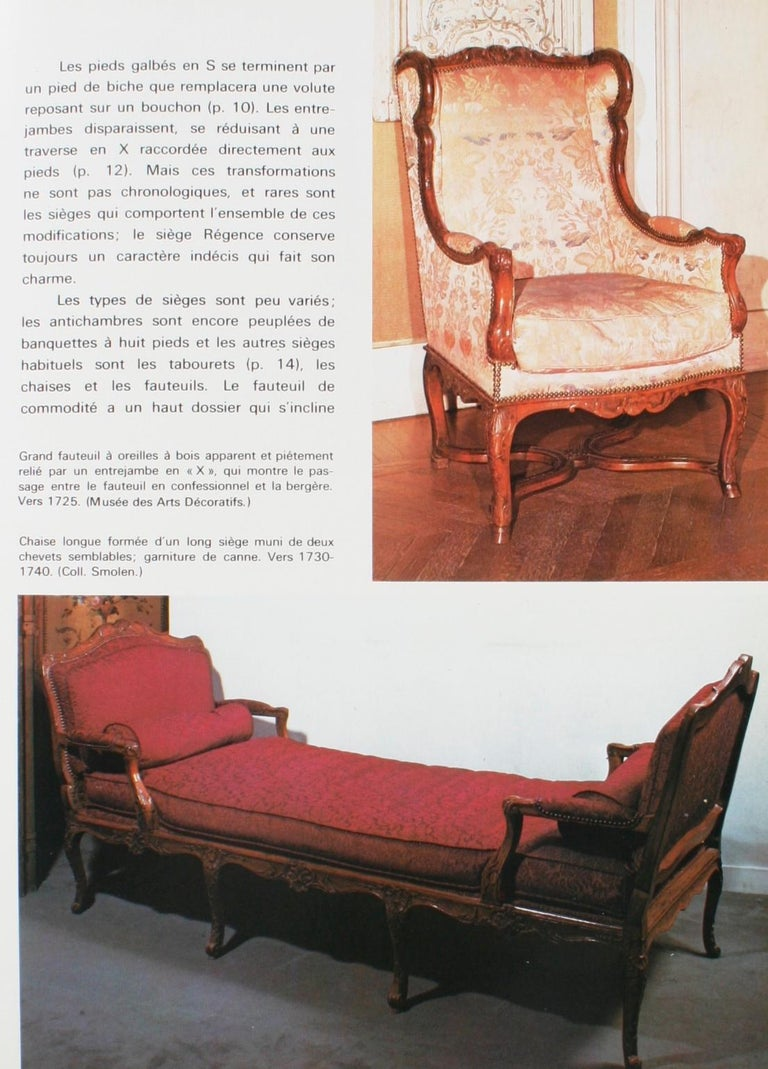 Mobilier Regence, Louis XV by Monica Burckhardt, First Edition In Good Condition For Sale In Kinderhook, NY
