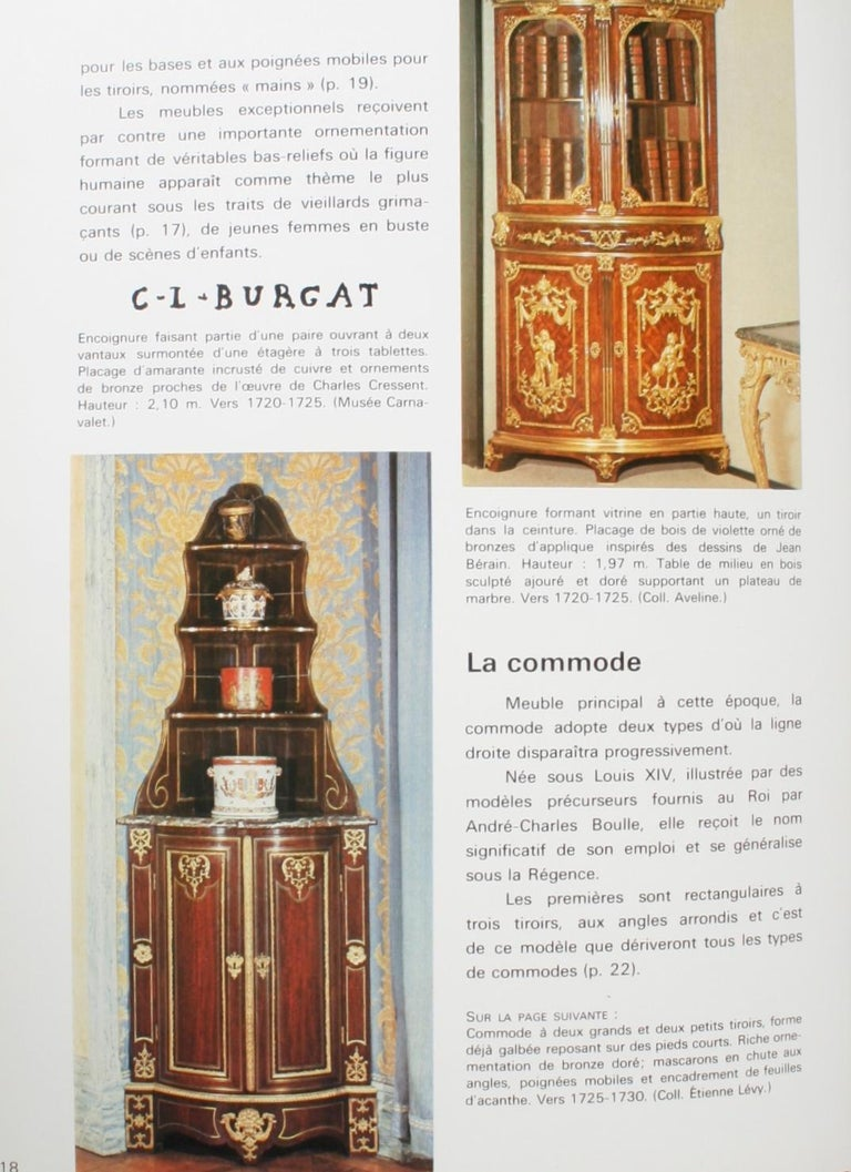 Late 20th Century Mobilier Regence, Louis XV by Monica Burckhardt, First Edition For Sale