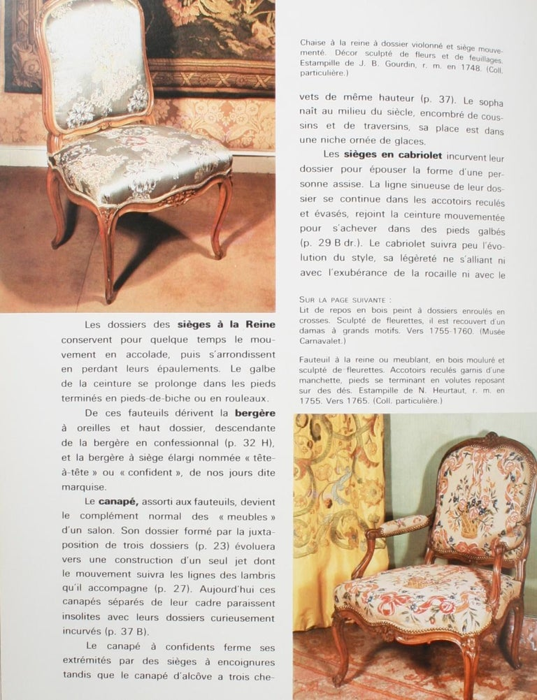 Mobilier Regence, Louis XV by Monica Burckhardt, First Edition For Sale 1