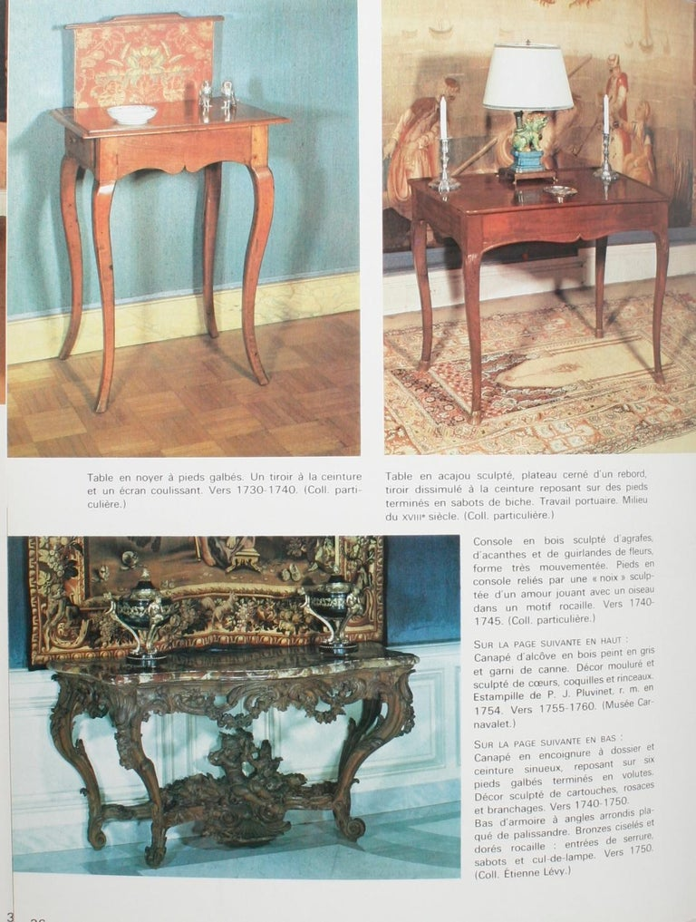 Mobilier Regence, Louis XV by Monica Burckhardt, First Edition For Sale 3