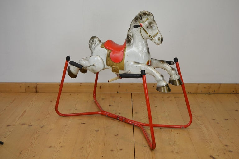20th Century Mobo Prairie King Rocking Horse Toy, England, 1960s For Sale