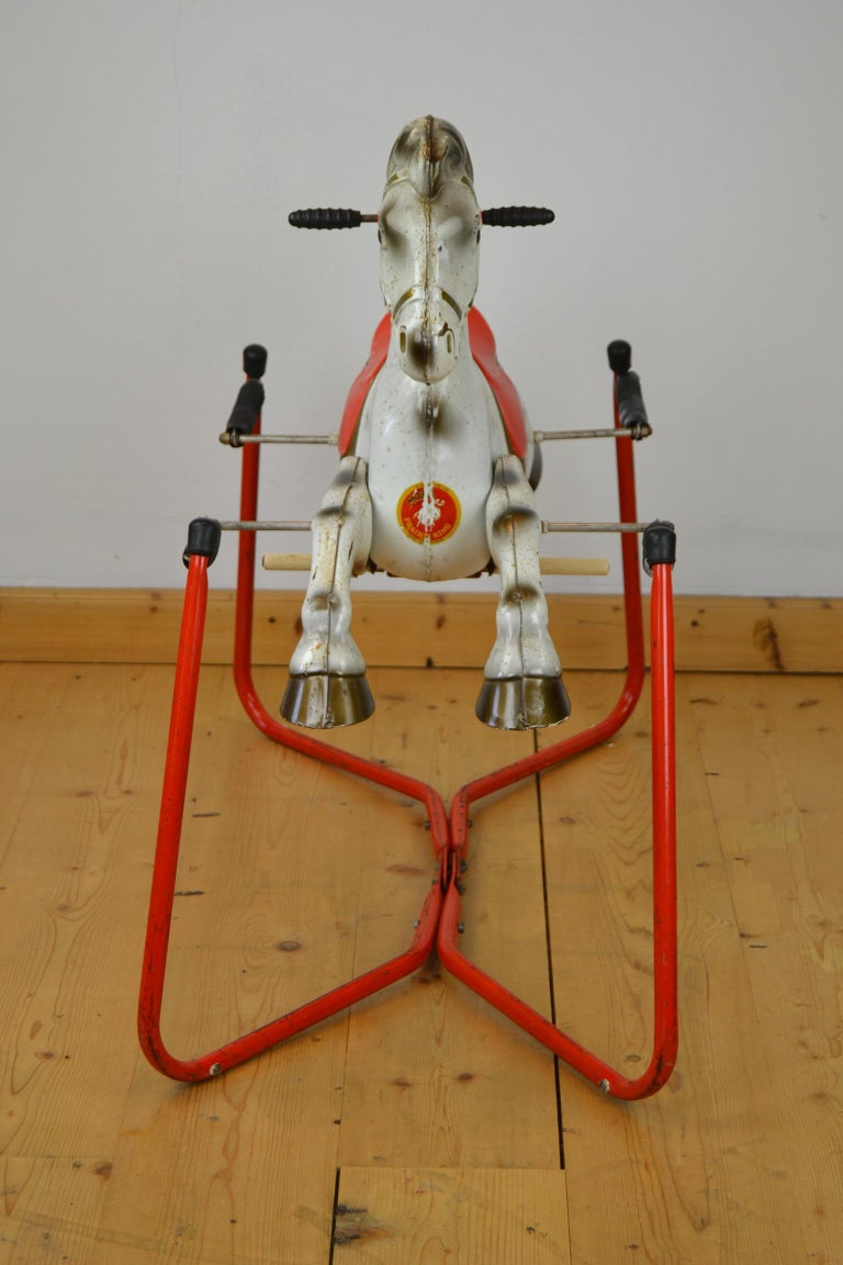 Metal Mobo Prairie King Rocking Horse Toy, England, 1960s For Sale