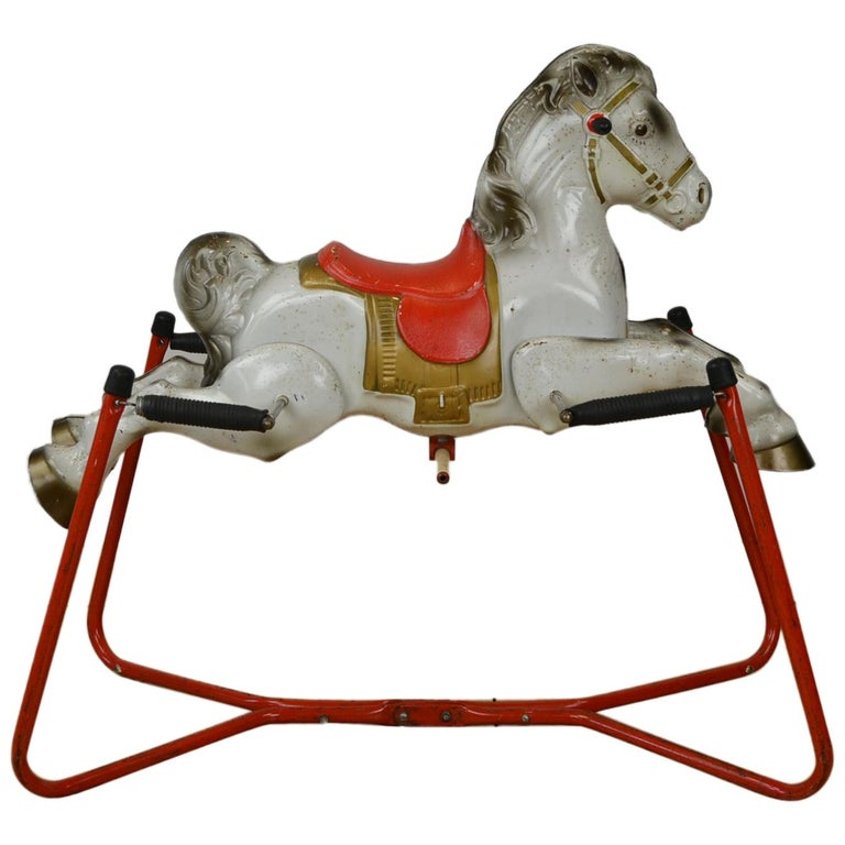 Mobo Prairie King Rocking Horse Toy, England, 1960s For Sale
