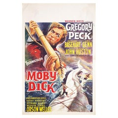 """Moby Dick"" 1956 Belgian Film Poster"