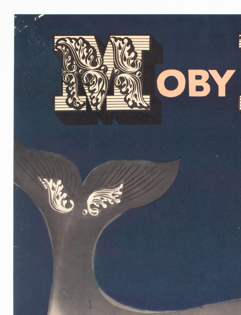 Moby Dick 1961 Polish Film Poster, Gorka - Linen Backed In Excellent Condition For Sale In Bath, Somerset