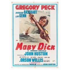 Moby Dick R1970s Italian Due Fogli Film Poster