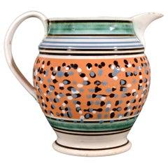 Mocha Pottery Jug, English for American Market, Circa 1825