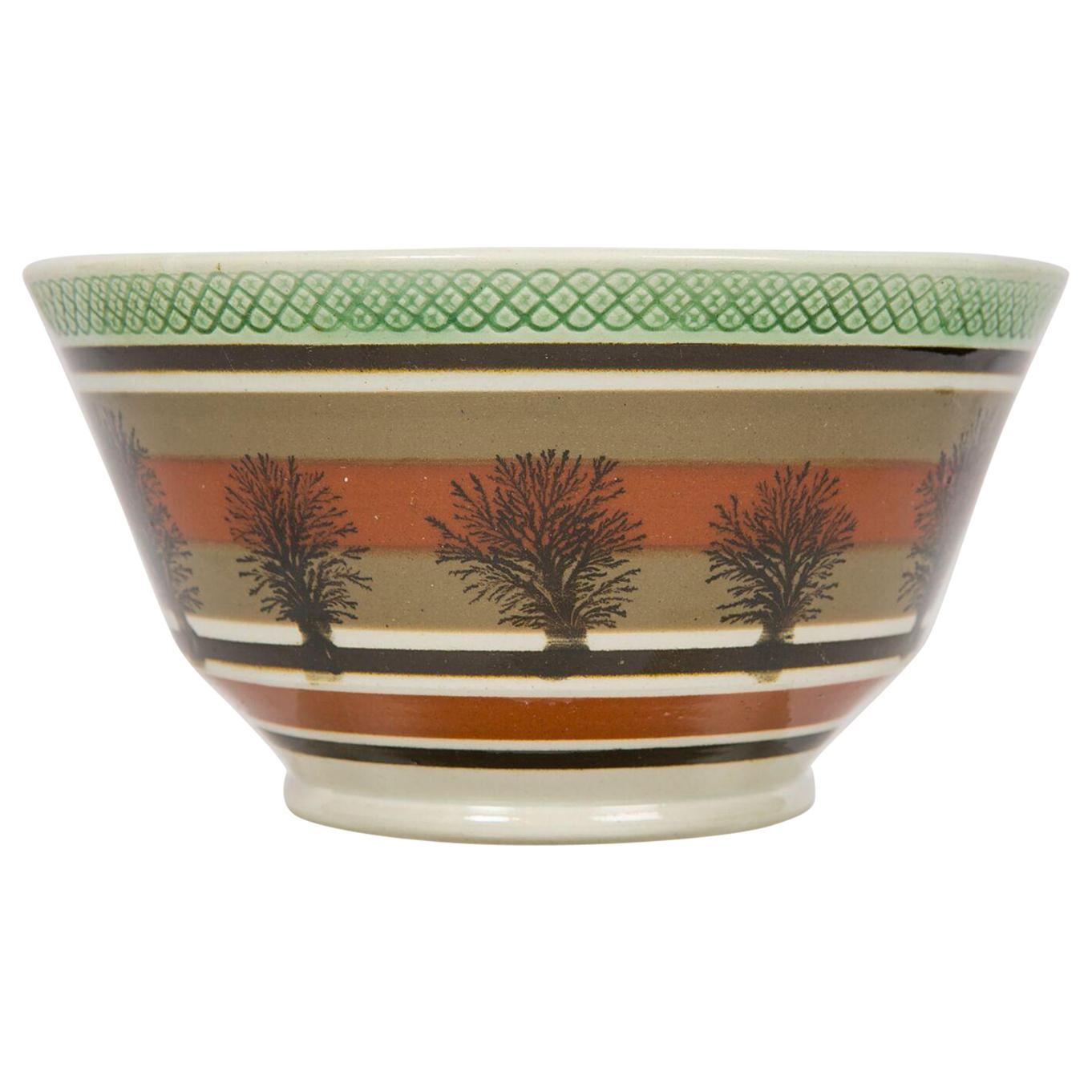 Mochaware Bowl Made in England, circa 1815