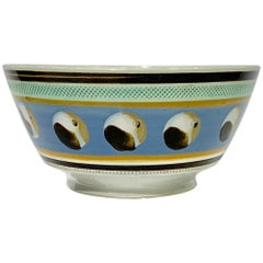Mochaware Bowl with Cat's Eye Decoration, England, circa 1820