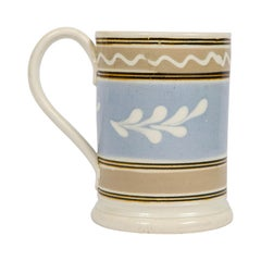 Mochaware Mug with Twig & Wavy Line Decoration Provenance the Rickard Collection