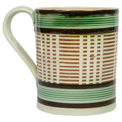 Mochaware Mug with a Geometric Pattern, England, circa 1815