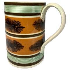 Mochaware Mug with Seaweed Decoration