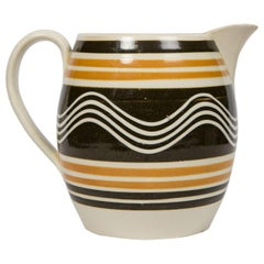 Mochaware Pitcher Made in England, circa 1810