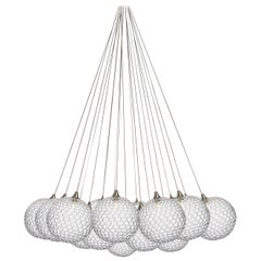 Mod 19 Cluster, Four Inch Blown Glass Livingroom Chandelier by Shakuff