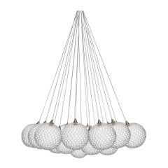Mod 19 Cluster, Six Inch Blown Glass Livingroom Chandelier by Shakuff