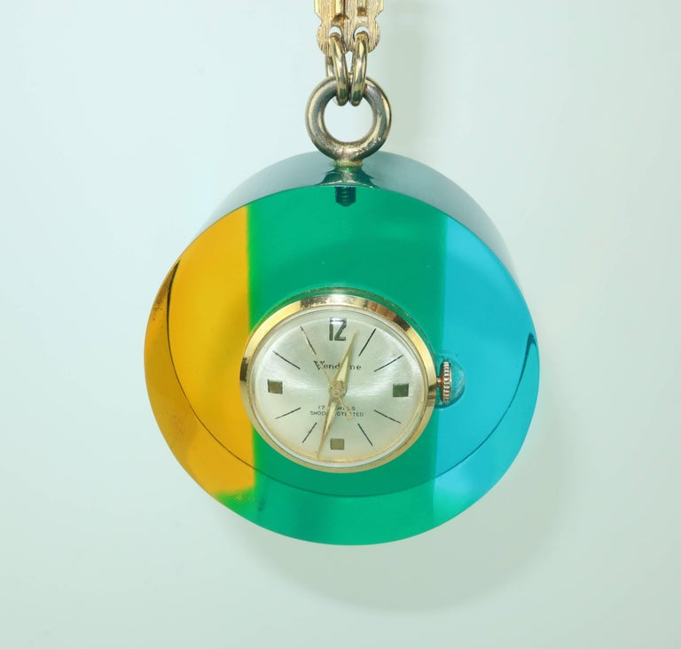 Mod 1960s vendome lucite acrylic pendant watch for sale at 1stdibs mod 1960s vendome lucite acrylic pendant watch for sale 1 aloadofball Gallery