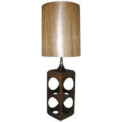 Mod 1960s Wood Lamp