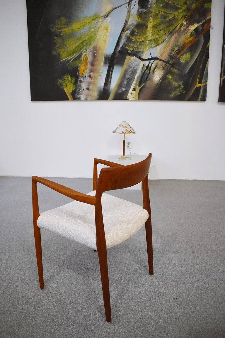 Scandinavian Modern Mod. 57 Armchair by Niels Otto Möller for J. L Mollers, 1960s For Sale