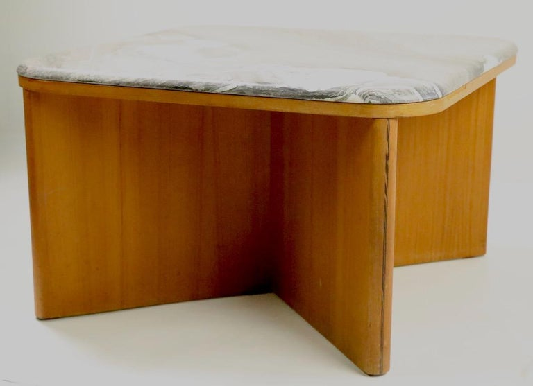 20th Century Mod Marble-Top End Table by Bendixen For Sale