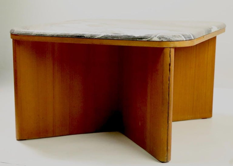 Mod Marble-Top End Table by Bendixen For Sale 1