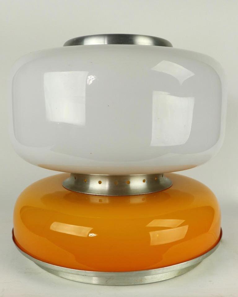 Italian Mod Murano Glass Table Lamp Attributed to Carlo Nason for Mazzega For Sale