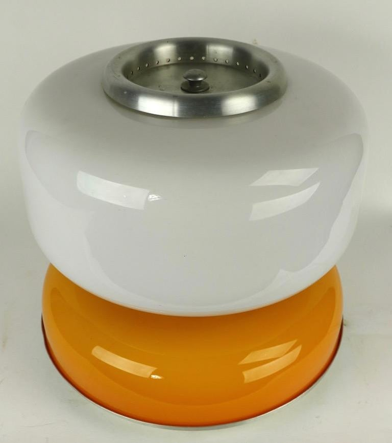Mod Murano Glass Table Lamp Attributed to Carlo Nason for Mazzega In Good Condition For Sale In New York, NY