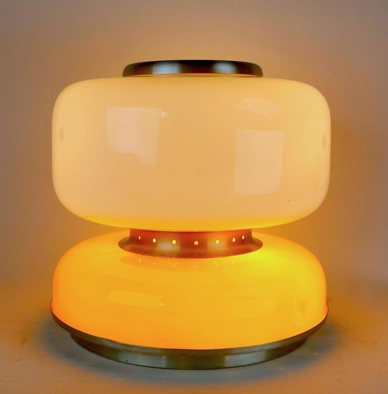 20th Century Mod Murano Glass Table Lamp Attributed to Carlo Nason for Mazzega For Sale
